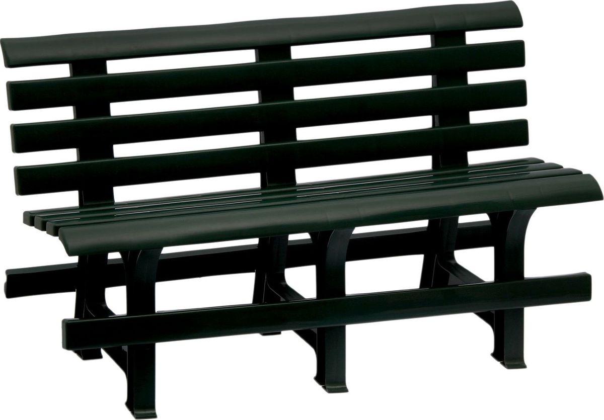 Скамья садовая, со спинкой, двухместная, цвет: темно-зеленый, 120 х 40 х 70 см. 20613182061318Пластиковая садовая скамья со спинкойиспользуется для создания привлекательного дизайна дачного участка. Садовые участки, оснащённые такой скамьей, будут выглядеть уютно, комфортно и стильно. Для изготовления используется пластик повышенной прочности.Скамья садовая со спинкой отлично впишется в экстерьер вашего садового участка. Подарит комфорт и сделает атмосферу уютной, гостеприимной. Теперь проводить время на свежем воздухе станет еще приятнее! Размер: 120 х 40 х 70 см.