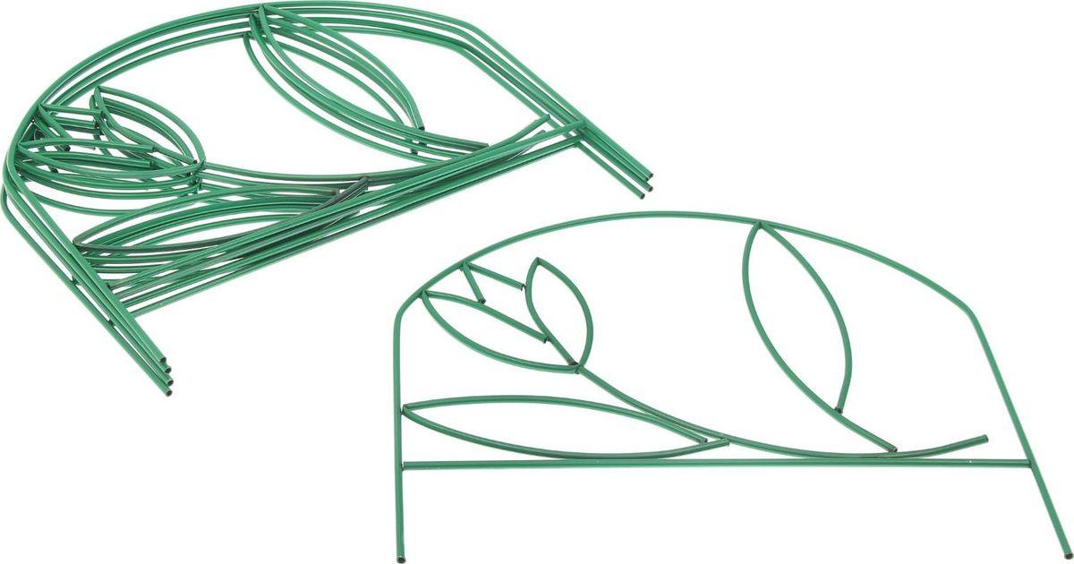 Ограждение садовое декоративное Тюльпан, 5 секций, цвет: зеленый, 70 х 370 см 77mm filter adapter ring mount w square shape filter bracket for dslr black
