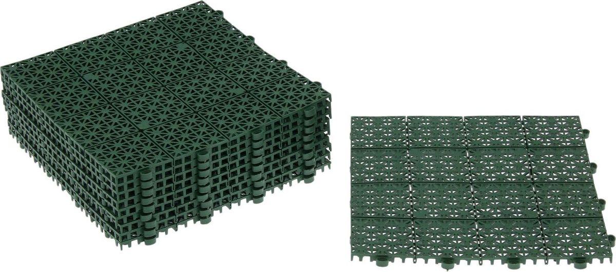 Плитка садовая, цвет: зеленый, 30 х 30 см, 10 шт садовая техника кайман