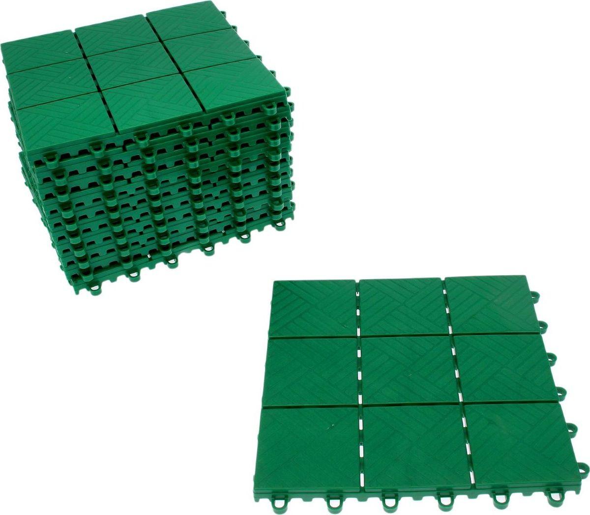 Плитка садовая, цвет: зеленый, 30 х 30 см, 11 шт2152316Плитка садовая выполнена из качественного пластика. Изделие отличается прочностью, износостойкостью и практичностью. Предназначено для укладки садовых дорожек. Размер: 30 х 30 см. В комплекте 11 плиток.