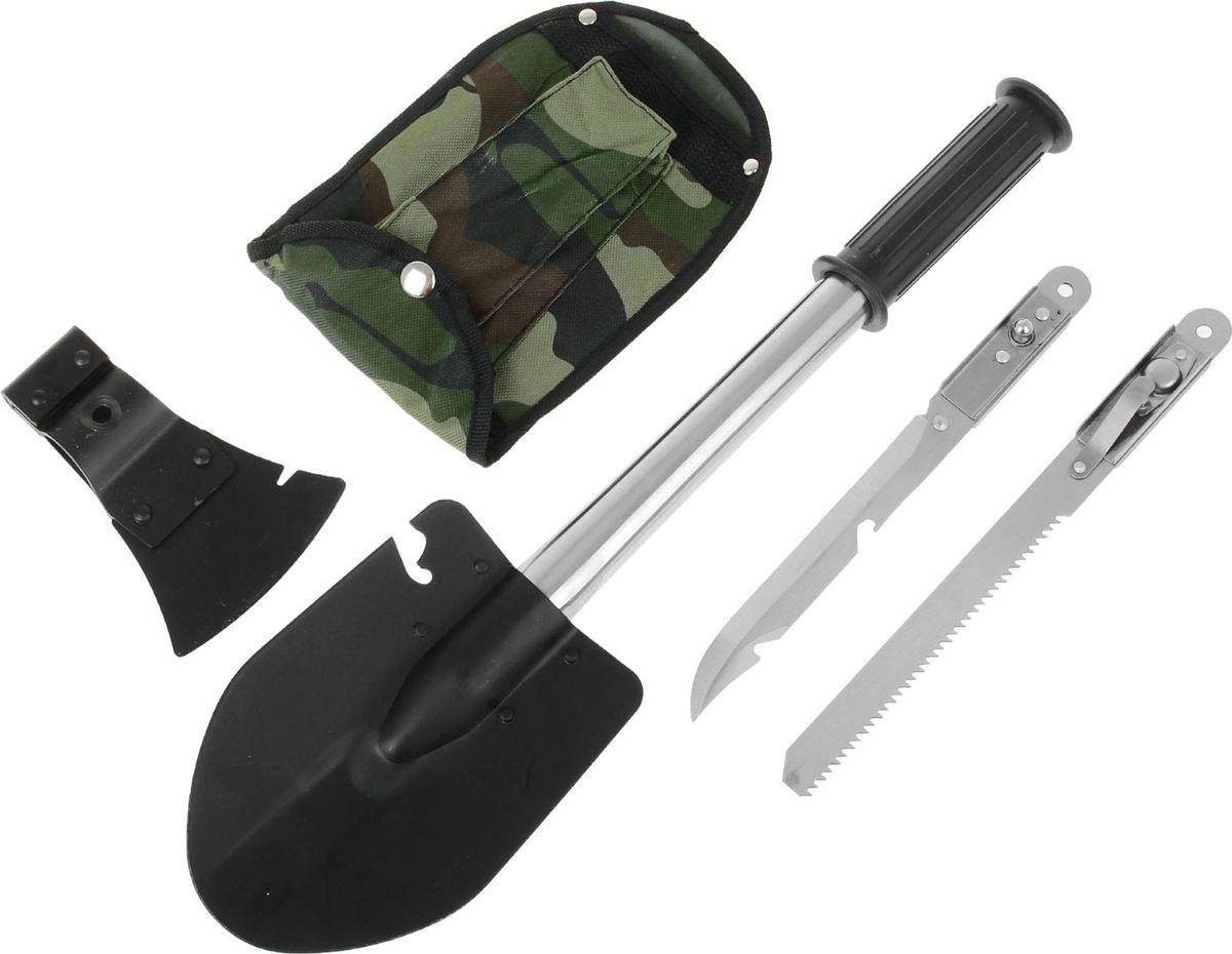 Набор садовых инструментов, 6 предметов222268Набор инструментов универсальный, включает в себя 6 предметов, которые вам точно понравится. Оригинальный мультиинструмент содержит: лопату, топор, пилу и ножовку.
