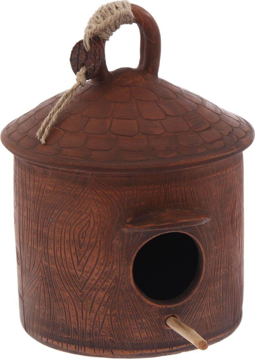 Скворечник Керамика ручной работы Птица в саду, 19 х 16 х 23 см2334339