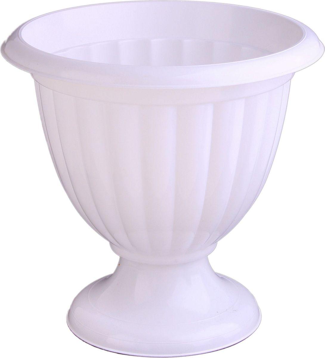 Вазон Альтернатива Жасмин, цвет: белый, 9 л577731Любой, даже самый современный и продуманный интерьер будет не завершенным без растений. Они не только очищают воздух и насыщают его кислородом, но и заметно украшают окружающее пространство. Такому полезному члену семьи просто необходимо красивое и функциональное кашпо, оригинальный горшок или необычная ваза! Для этих целей идеально подойдет вазон Альтернатива Жасмин.Оптимальный выбор материала - это пластмасса! С легкостью переносите горшки и кашпо с места на место, ставьте их на столики или полки, подвешивайте под потолок, не беспокоясь о нагрузке.Пластиковые изделия не нуждаются в специальных условиях хранения. Их легко чистить достаточно просто сполоснуть теплой водой. Пластиковые кашпо не царапают и не загрязняют поверхности, на которых стоят. Пластик дольше хранит влагу, а значит растение реже нуждается в поливе. Пластмасса не пропускает воздух корневой системе растения не грозят резкие перепады температур.Соблюдая нехитрые правила ухода, вы можете заметно продлить срок службы горшков, вазонов и кашпо из пластика: всегда учитывайте размер кроны и корневой системы растения (при разрастании большое растение способно повредить маленький горшок) берегите изделие от воздействия прямых солнечных лучей, чтобы кашпо и горшки не выцветали держите кашпо и горшки из пластика подальше от нагревающихся поверхностей.Создавайте прекрасные цветочные композиции, выращивайте рассаду или необычные растения.