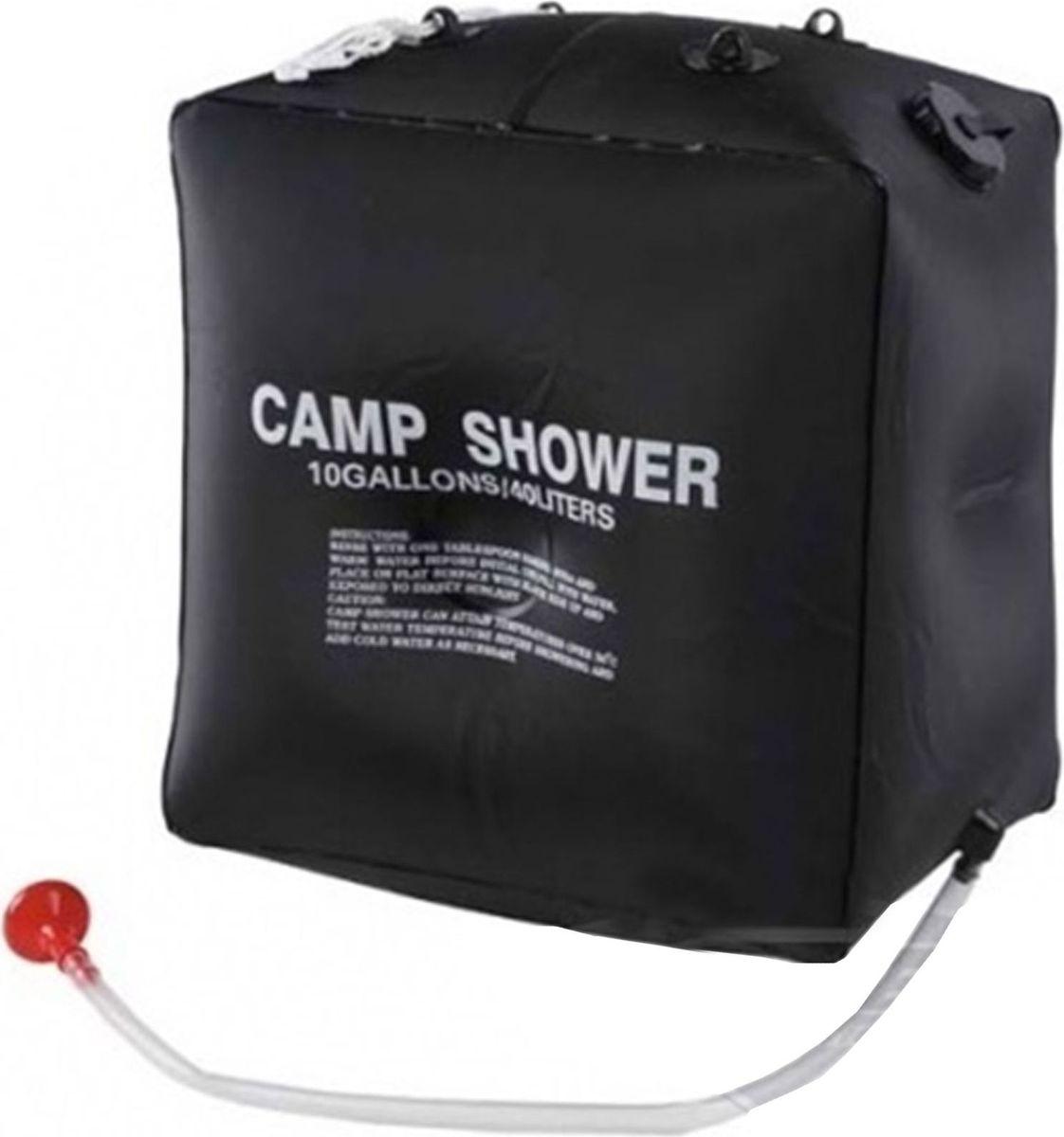 Душ садовый, 40 л634859Переносной душ — универсальный помощник в походе.Возьмите с собой в поход или поездку за город душ для туриста — в свёрнутом состоянии он поместится даже в рюкзак. Забудьте про пресловутые пластиковые бутылки! Закрепите устройство на любой ветке с помощью верёвки, находящейся в комплекте, и наслаждайтесь водными процедурами.Комплектация:резервуар с клапаном,гибкий шланг,верёвка,лейка.Преимущества Можно использовать как с тёплой, так и с холодной водой.Вода быстро нагревается на солнце благодаря чёрному цвету материала.Удобная большая горловина для наполнения водой.Характеристики Объем: 40 л.Материал: нетоксичный водонепроницаемый ПВХ.
