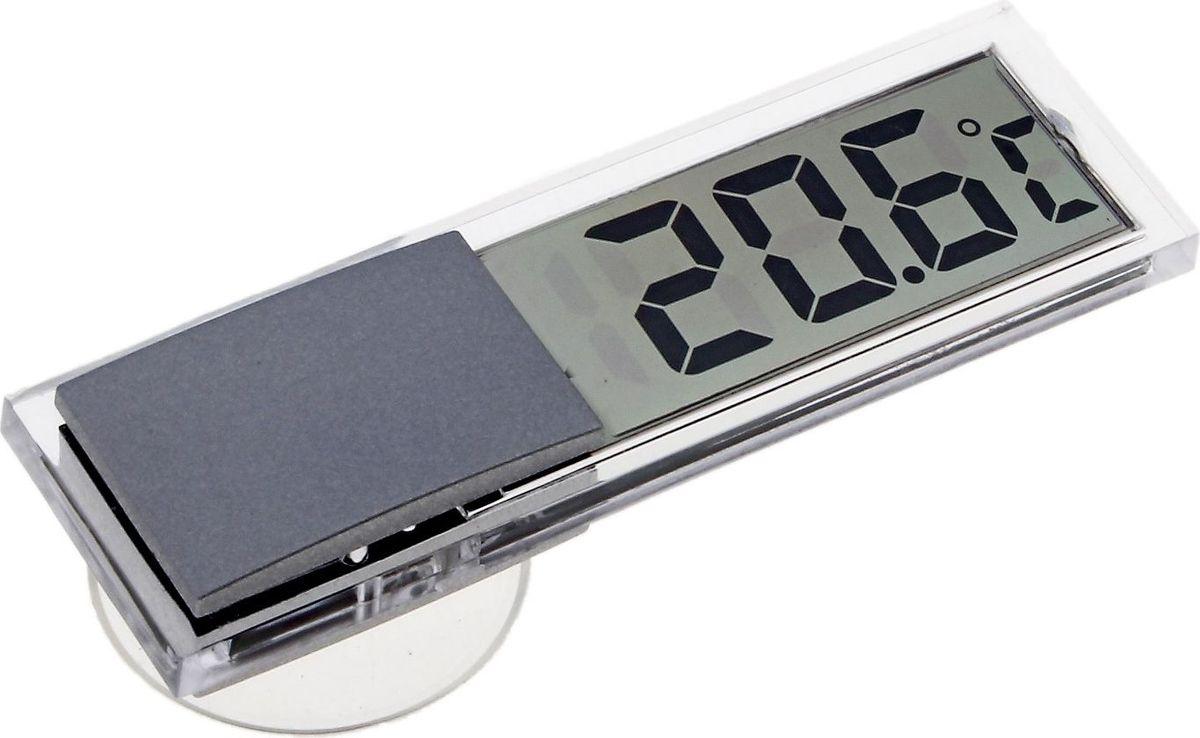 Термометр садовый, электронный, цвет: прозрачный, 2 х 2,9 х 9 см669277Термометр электронный позволит отследить уровень температуры дома или на улице, а благодаря присоске, его можно прикрепить на окно либо холодильник.
