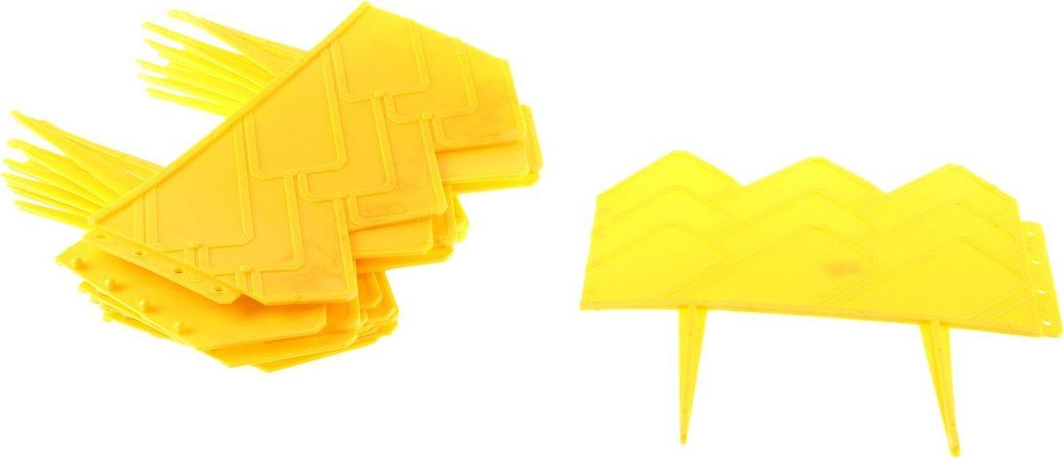 Ограждение садовое декоративное Домиком, 13 секций, цвет: желтый, 14 х 310 см738744Ограждение садовое Домиком предназначено для декоративного оформления границ цветников, клумб, газонов, садовых дорожек и площадок. Изделие изготовлено из прочного пластика. Легко и быстро собирается, надежно крепится в земле. Скрепляются при помощи простого замка.Размеры одной секции: 25 x 10 x 25 см.Общая длина: 310 см.Количество ограждений в упаковке: 13 шт.