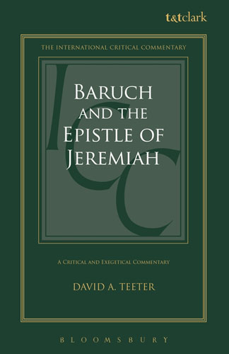 Baruch and the Epistle of Jeremiah: A Critical and Exegetical Commentary the identity of the i of the confessions of jeremiah