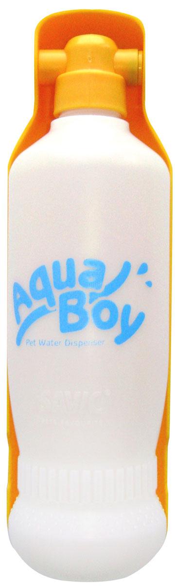 Поилка для собак Savic  Aqua Boy , цвет: белый, оранжевый, 550 мл - Аксессуары для кормления