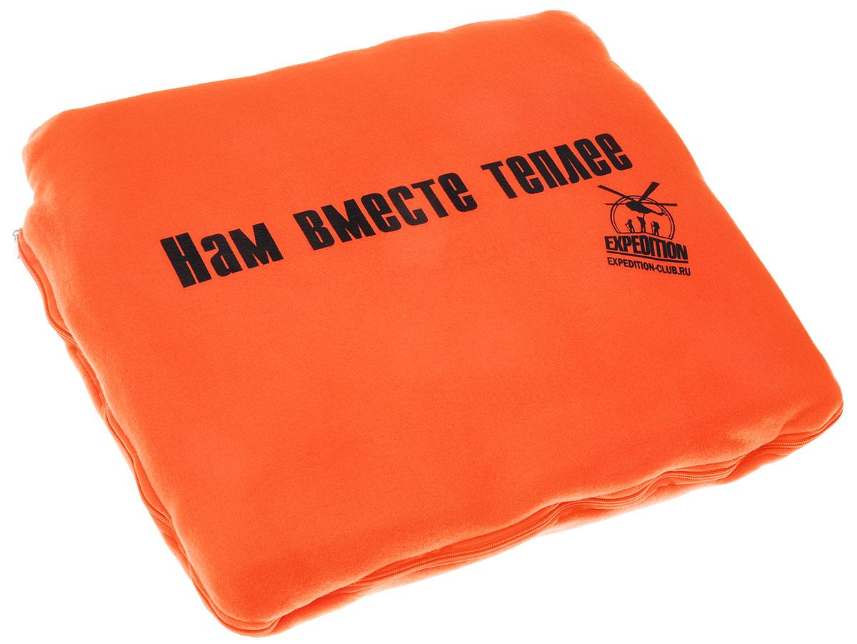 Плед-подушка Экспедиция Нам вместе теплее, цвет: оранжевыйESAA-002Плед-подушка Экспедиция Нам вместе теплее в чехле с надписью. Выполнен из мягкого флиса. Если сложить плед в чехол, он может быть использован как подушка!Плед-подушка Экспедиция Нам вместе теплее - отличный теплый как для друзей, так и для близких вам людей.