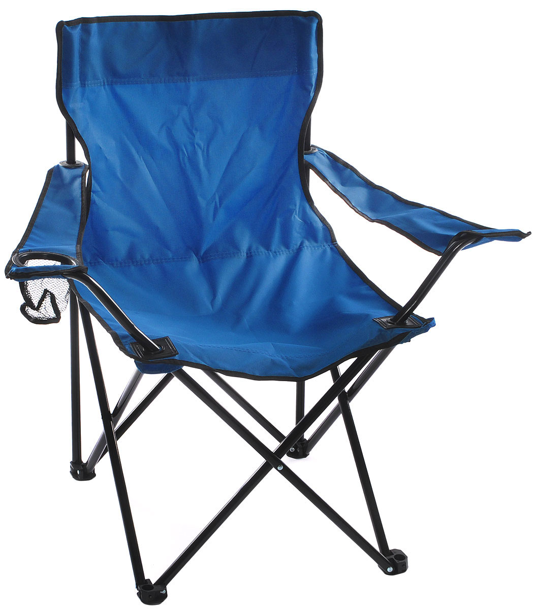 """На складном кресле """"Wildman"""" можно удобно расположиться в тени деревьев, отдохнуть в приятной прохладелетнего вечера.В использовании такое кресло достойно самых лучших похвал. Кресло выполнено из прочной ткани оксфорд, каркас стальной. Кресло оснащено удобными подлокотниками, в одном из них расположен подстаканник. В сложенном виде кресло удобно для хранения и переноски. В комплекте чехол для переноски и хранения."""