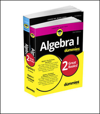 Algebra I Workbook For Dummies with Algebra I For Dummies 3e Bundle the imactm for dummies®