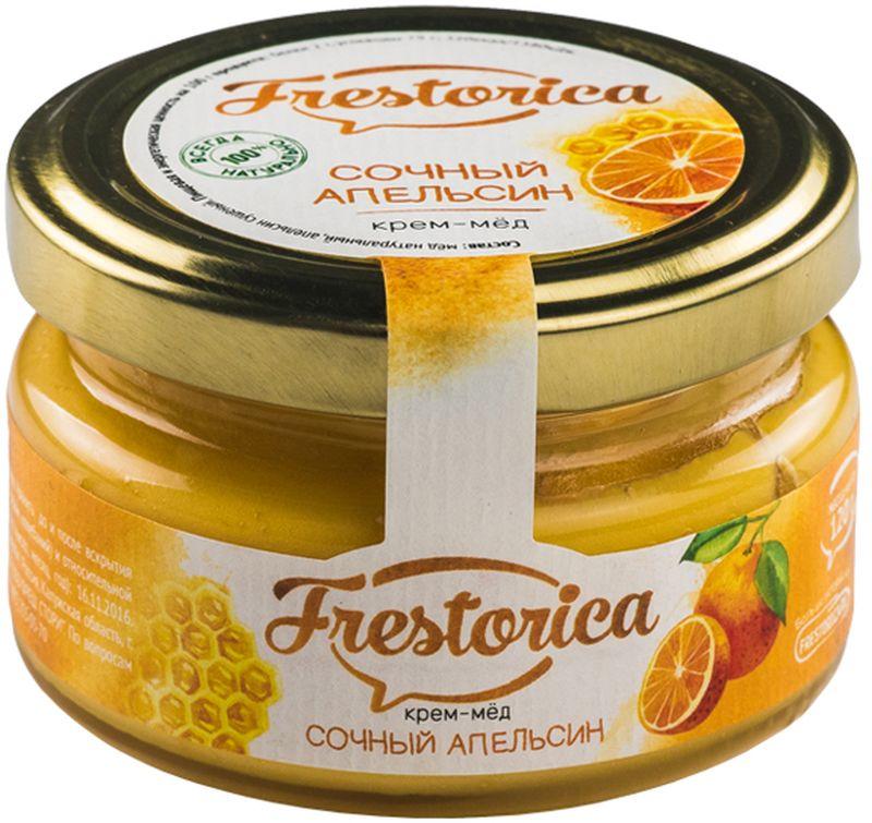 Frestorica крем-мед Сочный апельсин, 120 г4665301640308Витамин С, содержащийся в цитрусовых, наиболее изучен и применяется чаще других. Действие этого витамина на организм так разнообразно, что невозможно найти орган или систему, которые бы не нуждались в его достаточном поступлении в организм.Человек, практически единственное существо на планете, в организме которого витамин С не вырабатывается. Поэтому его так важно получать из пищи. Кроме витамина С, апельсины богаты витаминами группы В и РР, а также фосфором, магнием, кальцием, калием, железомДобавляя южный плод в мед средней полосы России мы умножаем пользу двух продуктов, предлагая вам прекрасное лакомство для здорового питания!