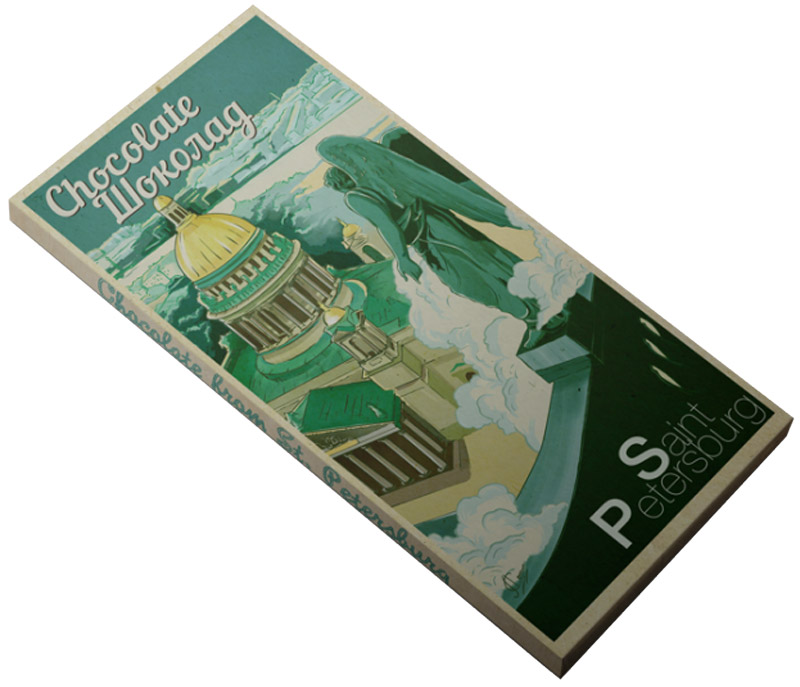 Petersburg Исаакиевский собор молочный шоколад, 100 г petersburg