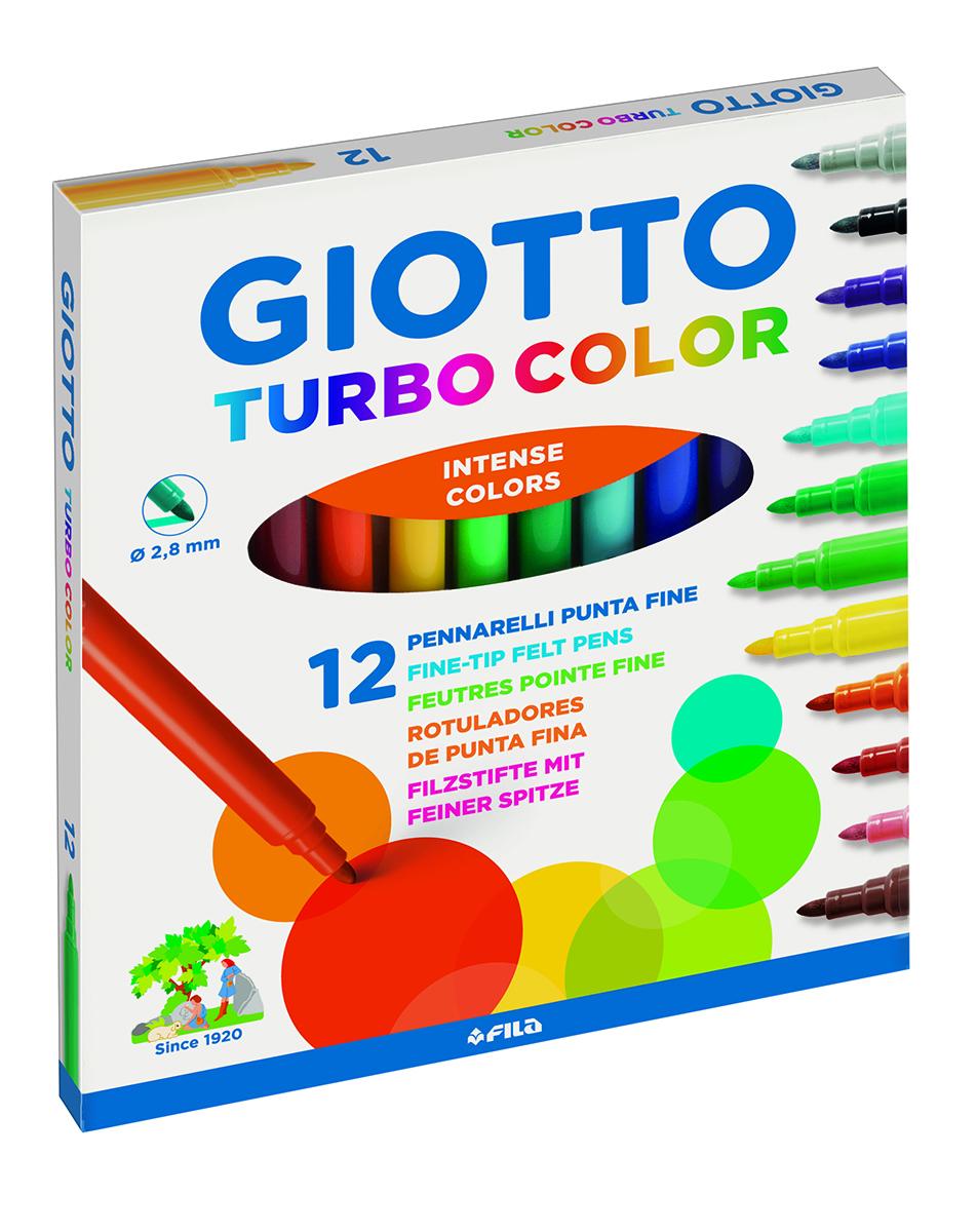 Giotto Набор фломастеров Turbo Color 12 цветов1850391Суперсмываемые фломастеры Giotto Turbo Color на водной основе с натуральными красителями. Устойчивы к высыханию при открытом колпачке более месяца! Яркие, насыщенные цвета, не выцветают и не выгорают на солнце. Легко отстирываются и смываются с рук. Пишущий фетровый наконечник надежно зафиксирован, не вдавливается и не деформируется даже при сильном нажатии. Вентилируемый колпачок.