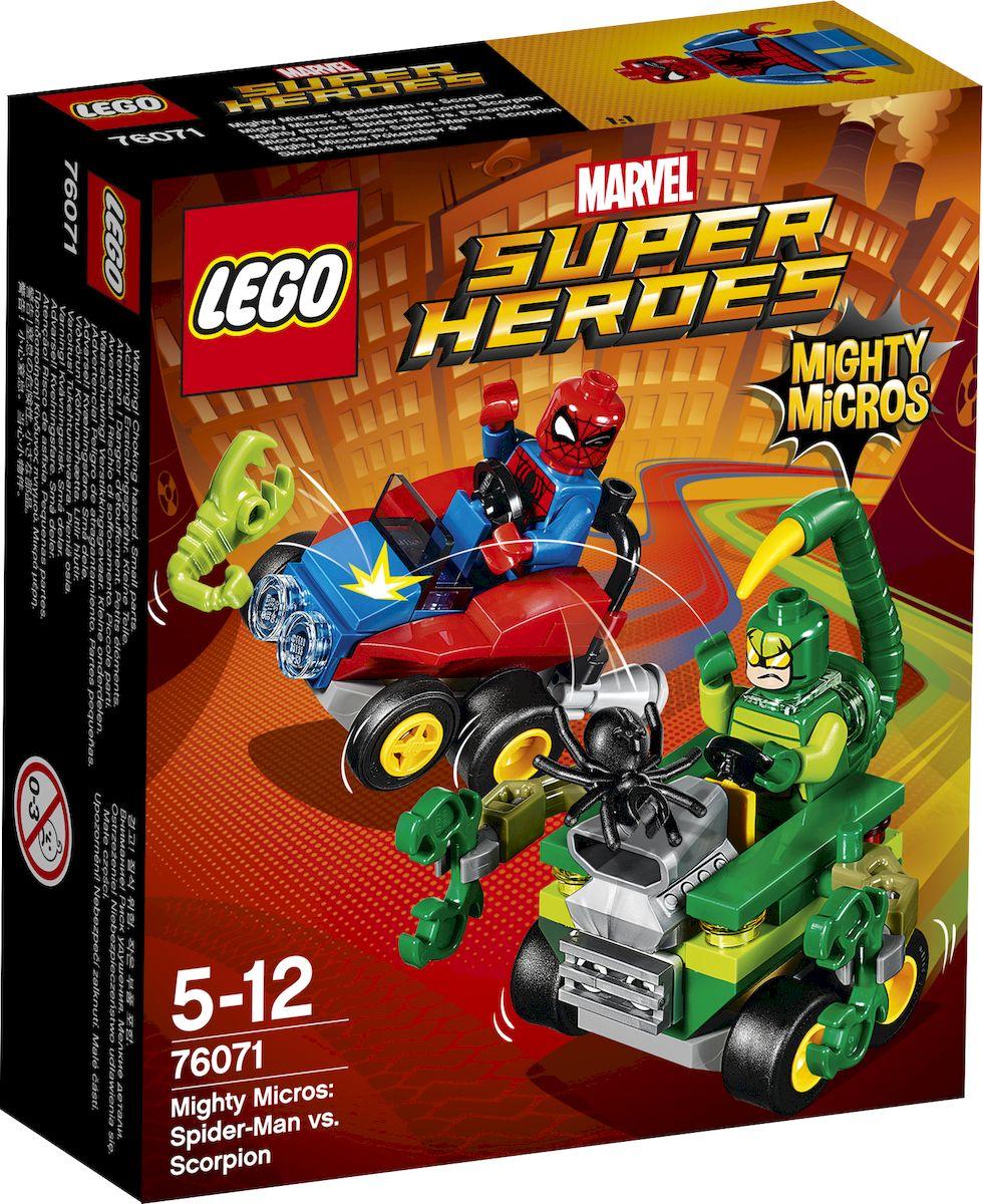 LEGO Super Heroes Конструктор Mighty Micros Человек-паук против Скорпиона 76071 конструктор lego super heroes 76069 mighty micros бэтмен против мотылька убийцы