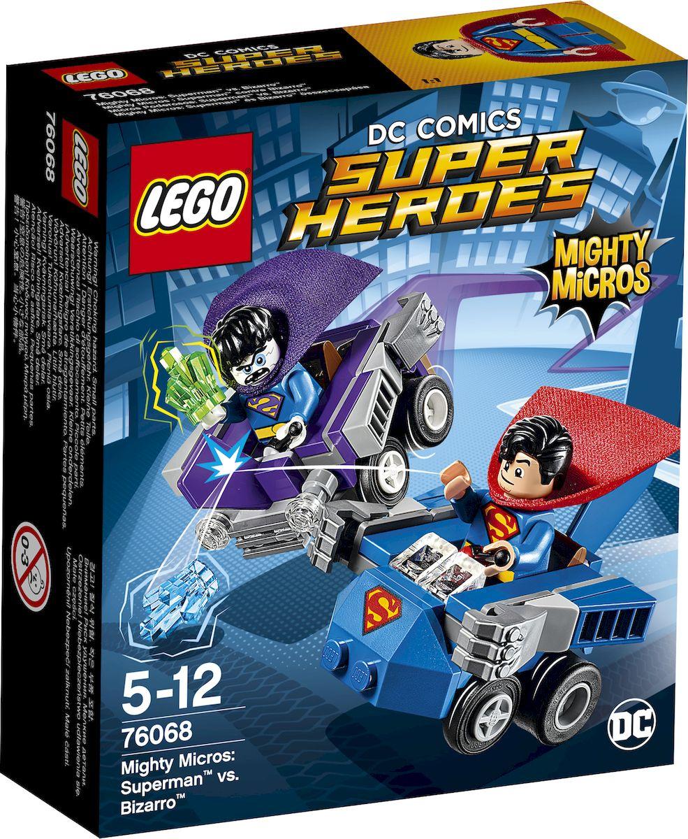 LEGO Super Heroes Конструктор Mighty Micros Супермен против Бизарро 76068 конструктор lego super heroes 76069 mighty micros бэтмен против мотылька убийцы
