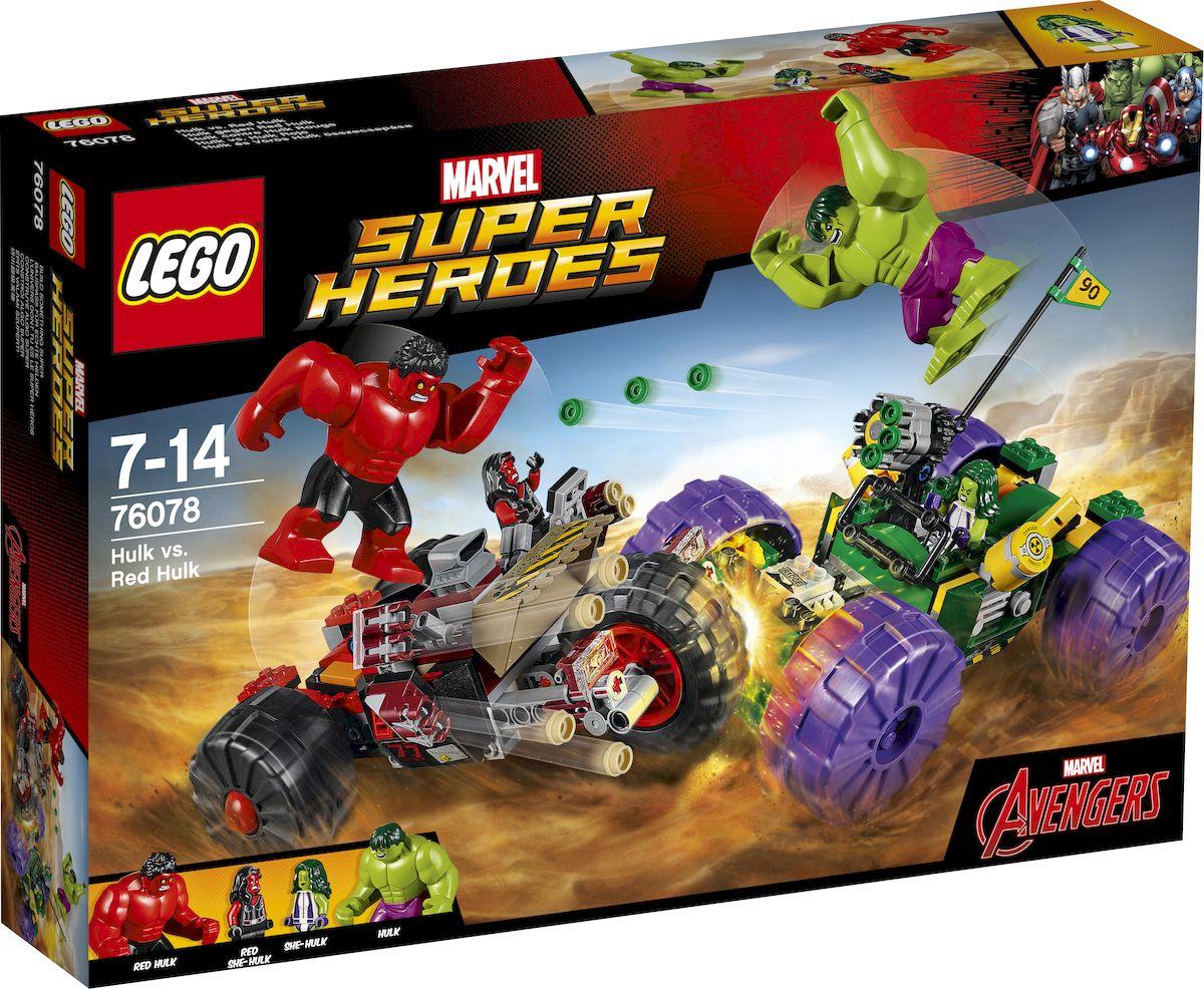 LEGO Super Heroes Конструктор Халк против Красного Халка 76078 конструктор lego super heroes росомаха против магнето 76073