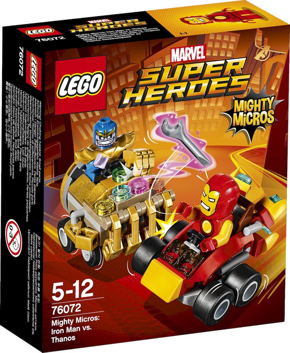 LEGO Super Heroes Конструктор Mighty Micros Железный человек против Таноса 76072 конструктор lego super heroes 76069 mighty micros бэтмен против мотылька убийцы