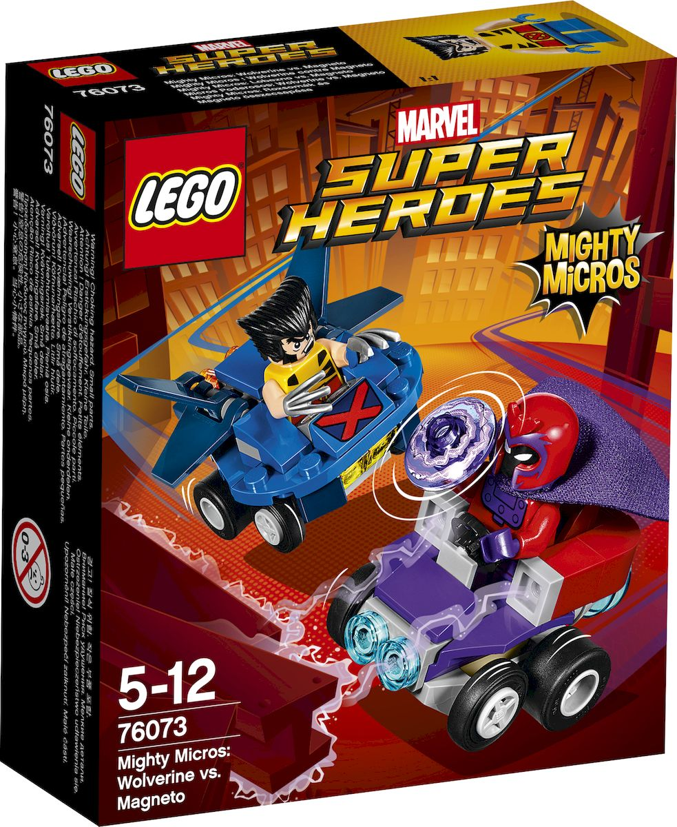 LEGO Super Heroes Конструктор Mighty Micros Росомаха против Магнето 76073 конструктор lego super heroes 76069 mighty micros бэтмен против мотылька убийцы