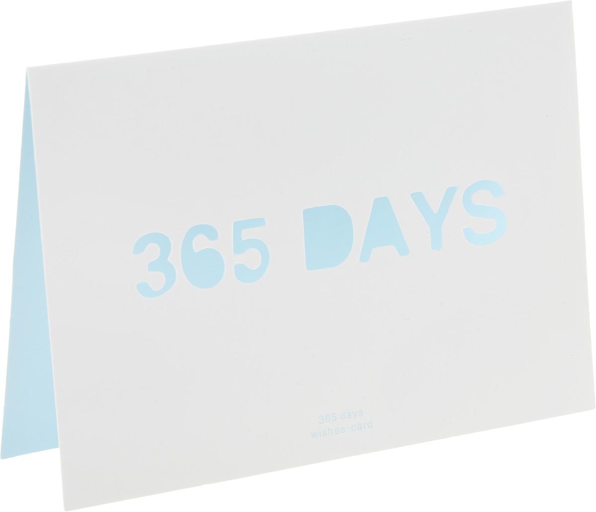 Открытка 365 days0110008Двойная открытка 365 days позволит вам оригинально дополнить подарок и поздравить близкого человека. Лицевая сторона открытки оформлена вырезанной надписью 365 days. В комплект входит цветной конверт. Характеристики: Материал:картон, бумага.Размер открытки (в сложенном виде):15 см х 10,5 см.Изготовитель:Китай. УВАЖАЕМЫЕ КЛИЕНТЫ!Обращаем ваше внимание на незначительные изменения в цвете некоторых деталей товара. Поставка осуществляется в зависимости от наличия на складе.