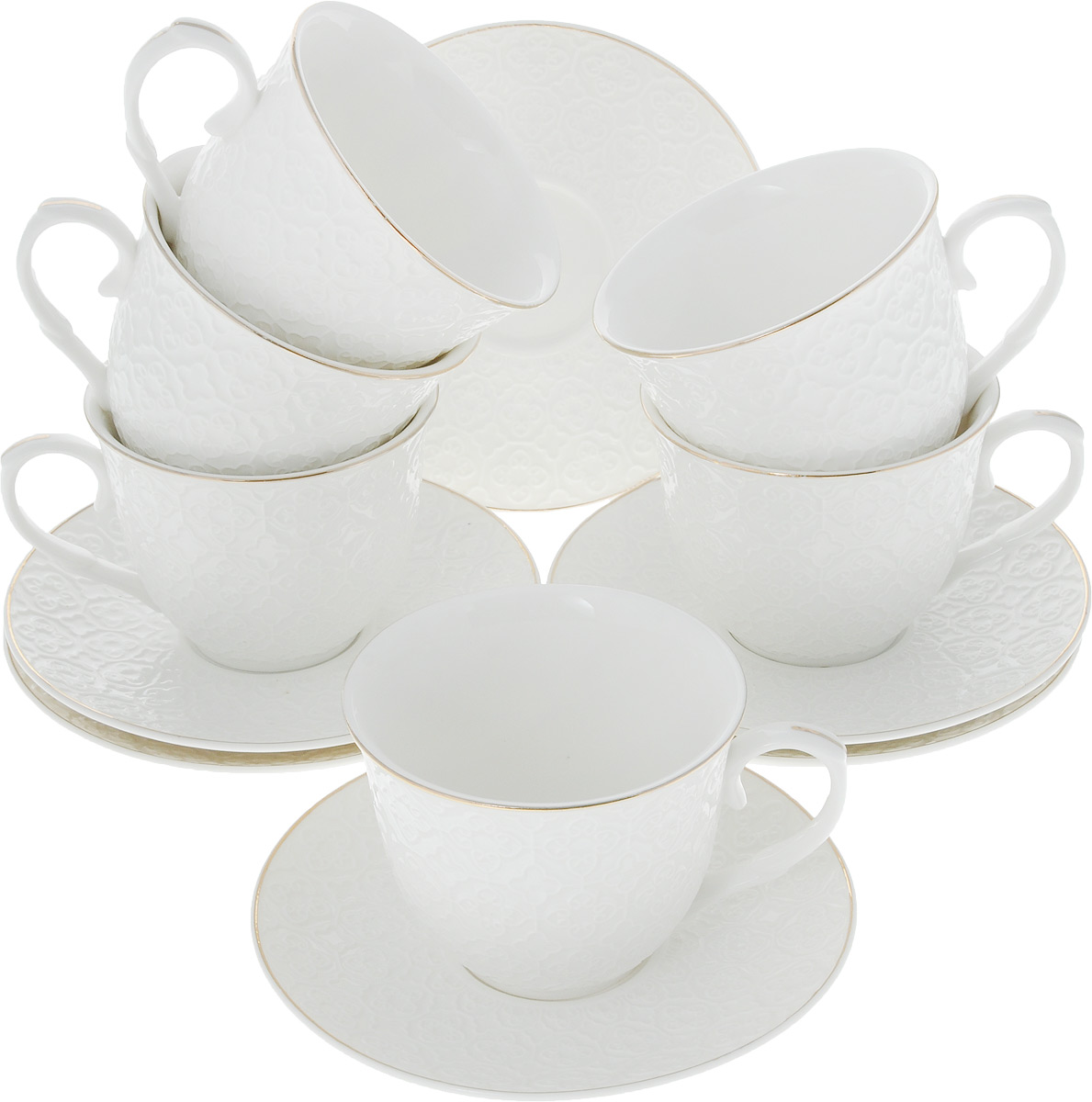 Сервиз чайный Loraine, 12 предметов. 26504 чайный сервиз 23 предмета на 6 персон bavaria кёльн b xw213y 23