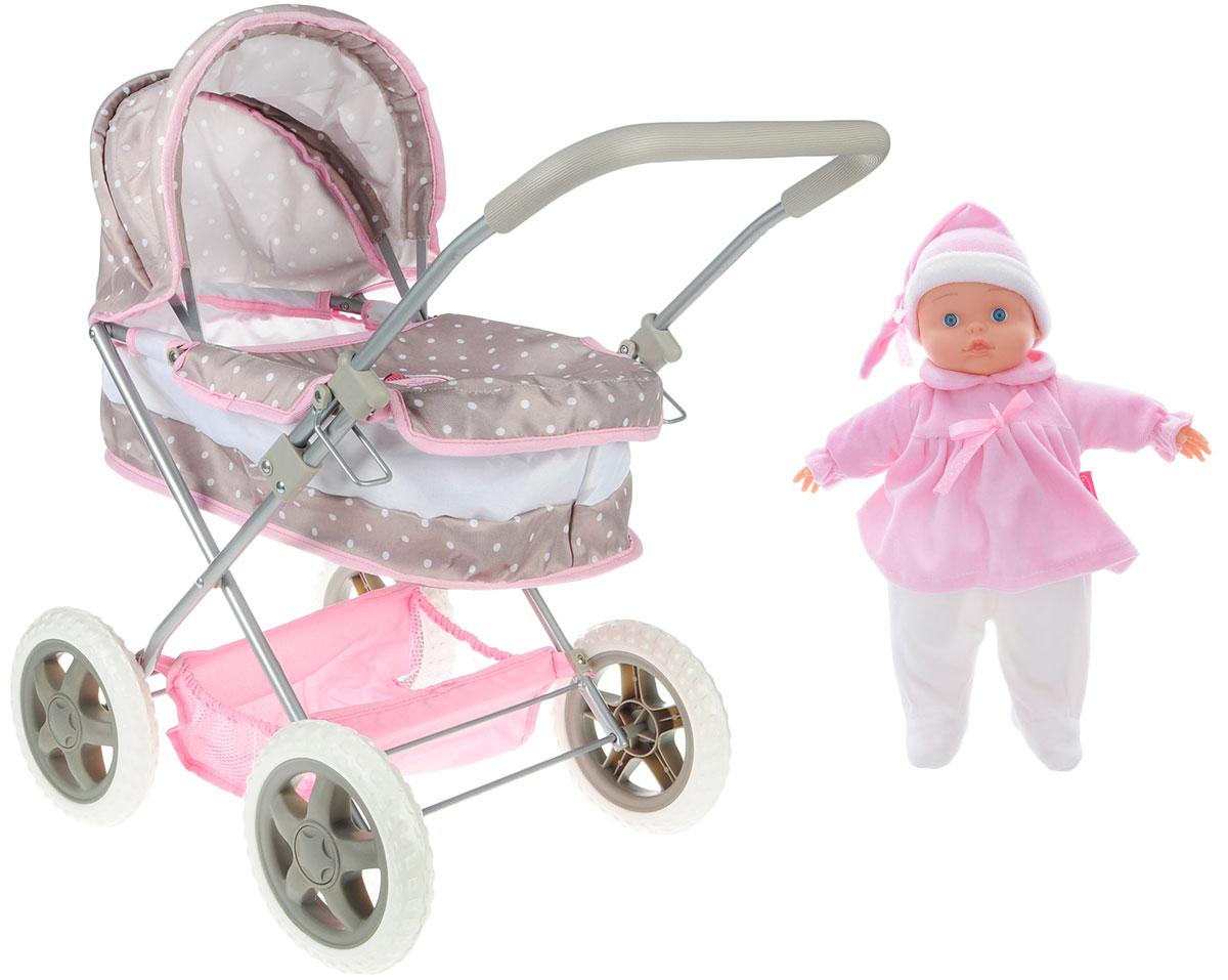 Bambolina Игровой набор с куклой Классическая коляска bambolina игровой набор с куклой пупс в ванночке