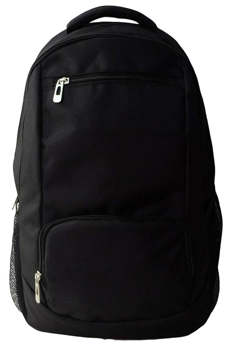 Action! Рюкзак цвет черный AB11129AB11129Рюкзак Action! имеет мягкую спинку, два отделения на молнии. На лицевой стороне находятся два кармана на молниях, внутри - вместительный открытый карман. По бокам имеются сетчатые карманы. Рюкзак оснащен текстильной ручкой для переноски в руке и лямками регулируемой длины.