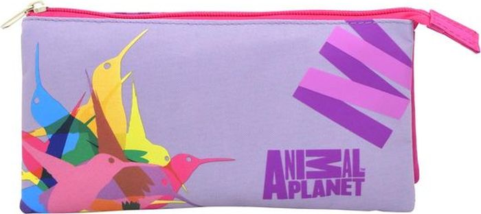 Action! Пенал Animal Planet Колибри цвет розовый фиолетовыйAP-APC4216/1/15Стильный пенал Action! - это супермодный аксессуар для вашего ребенка, который надежно сохранит все мелкие школьные принадлежности в целости и сохранности, защитив их от влаги. Аксессуар изготовлен из износостойкой, водонепроницаемой ткани, поэтому служить будет долго. Пенал декорирован стильным принтом и закрывается на молнию.Удобный пенал от Action! станет незаменимым спутником вашего ребенка в походах за знаниями.