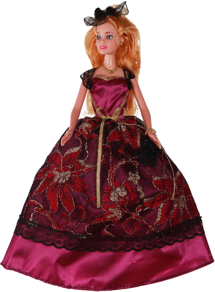 Yako Кукла Софи цвет платья бордовый yako кукла софи цвет платья бордовый