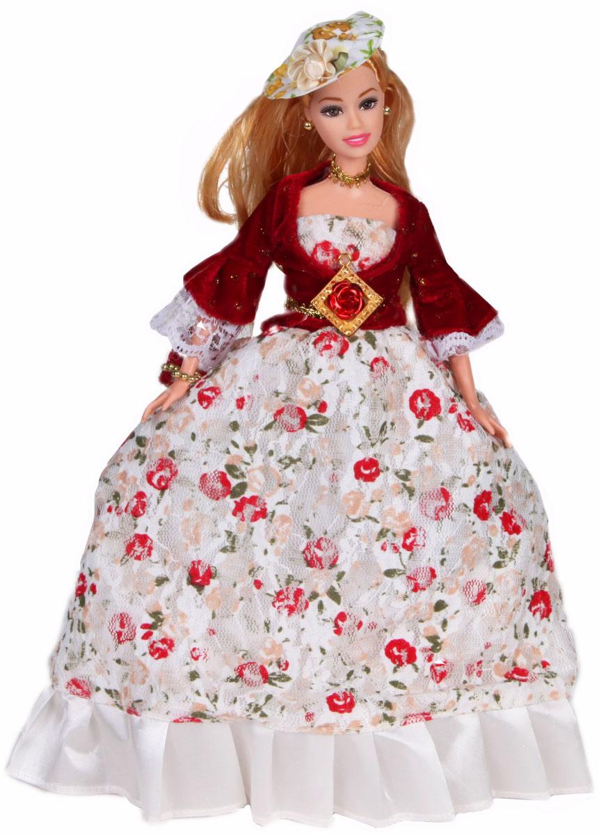 Yako Кукла Софи цвет платья белый бордовый yako кукла софи цвет платья бордовый