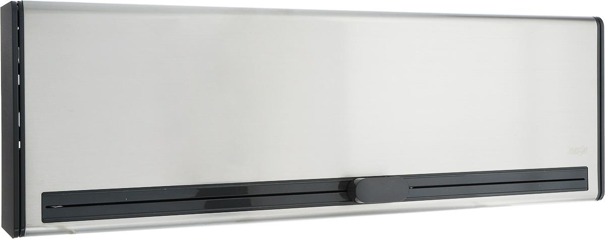 Диспенсер для пленки и фольги Emsa Smart, 38 х 12,5 х 7,5 см515220Диспенсер для пленки и фольги Emsa Smart выполнен из высококачественной нержавеющейстали и пластика. С его помощью можно легко и компактно разместить пищевую пленку ифольгу прямо в кухонном шкафу. Благодаря умной системе лезвий отделить пищевую пленку илиалюминиевую фольгу получится без рваных краев - скомканный край пленки остался в прошлом.Оригинальный дизайн станет отличным дополнением к вашему интерьеру.