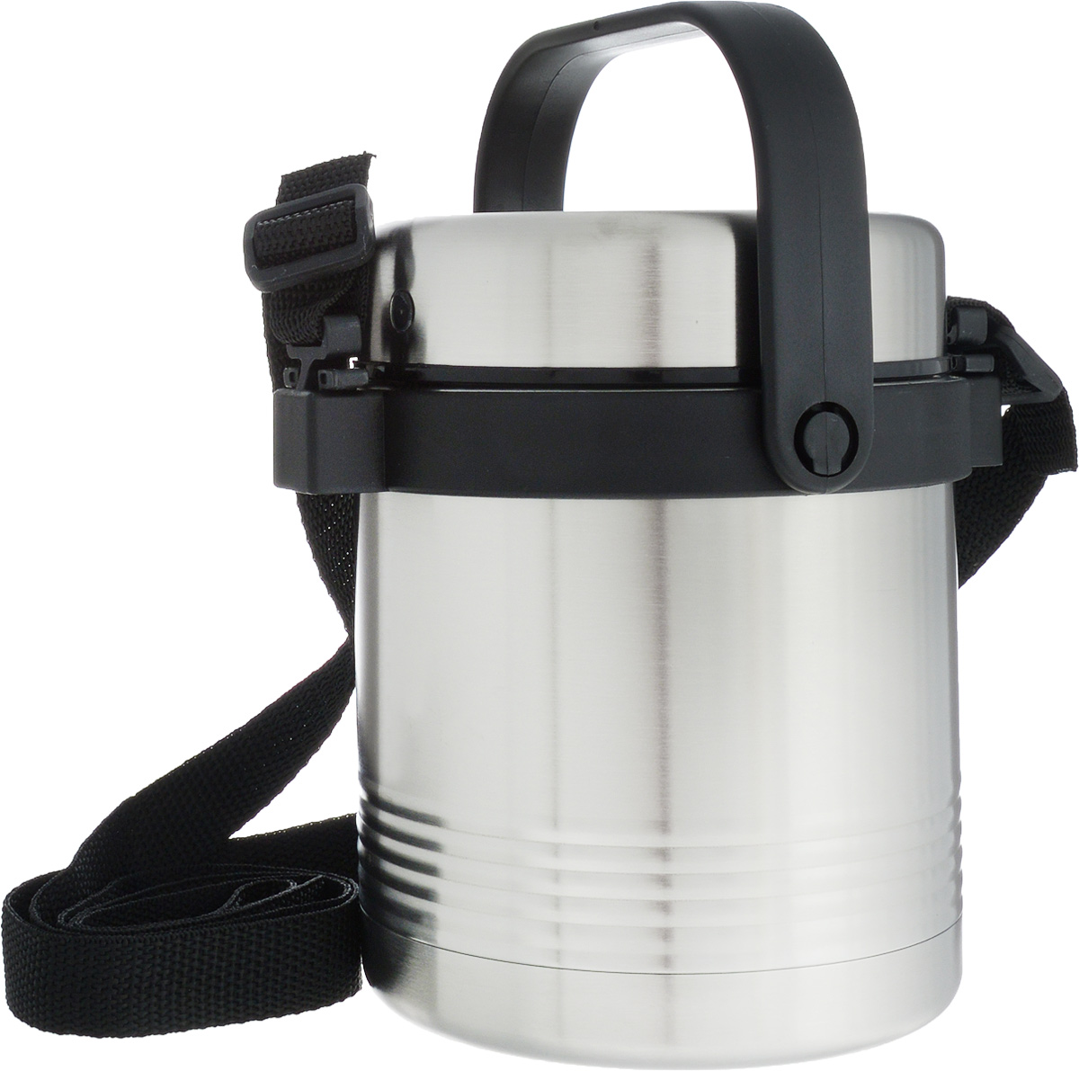 Термос для еды Emsa Senator, с контейнером, 1 л502524Термос Emsa Senator изготовлен из высококачественной нержавеющей стали. Термос предназначен для горячих и холодных продуктов. Термос оснащен глухой крышкой, которая предотвращает проливание. Также он имеет удобную ручку и съемный ремень.Внутри термоса есть дополнительный пластиковый контейнер, который герметично закрывается крышкой.Стильный металлический термос понравится абсолютно всем и впишется в любой интерьер кухни.Можно мыть в посудомоечной машине.Диаметр горлышка термоса: 11 см.Диаметр основания термоса: 11 см.Высота термоса (с учетом крышки): 16 см. Диаметр контейнера: 10 см. Высота контейнера (с учетом крышки): 12 см.Сохранение холода: 12 ч.Сохранение тепла: 6 ч.