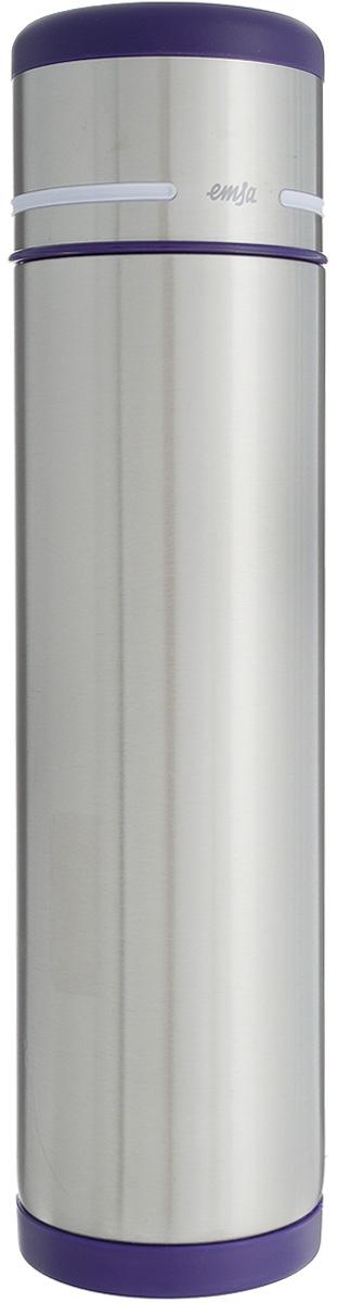 Термос Emsa Mobility, цвет: фиолетовый, стальной, 1 л термос кофейник emsa soft grip 1 5 л