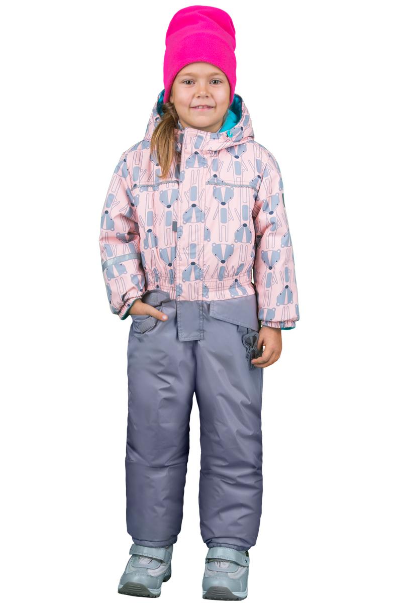 Комбинезон утепленный для девочки Boom!, цвет: розовый, серый. 70330_BOG_вар.1. Размер 86, 1,5-2 года70330_BOG_вар.1Комбинезон утепленный для девочки Boom! изготовлен из полиэстера. Комбинезон с капюшоном и длинными рукавами застегивается на молнию и дополнительно ветрозащитным клапаном на липучки. Объем капюшона регулируется при помощи шнурка-кулиски со стопперами. Рукава и низ брючин дополнены эластичными резинками. На талии предусмотрена вшитая широкая эластичная резинка. Модель дополнена двумя карманами с клапанами. Верх модели оформлен принтом.