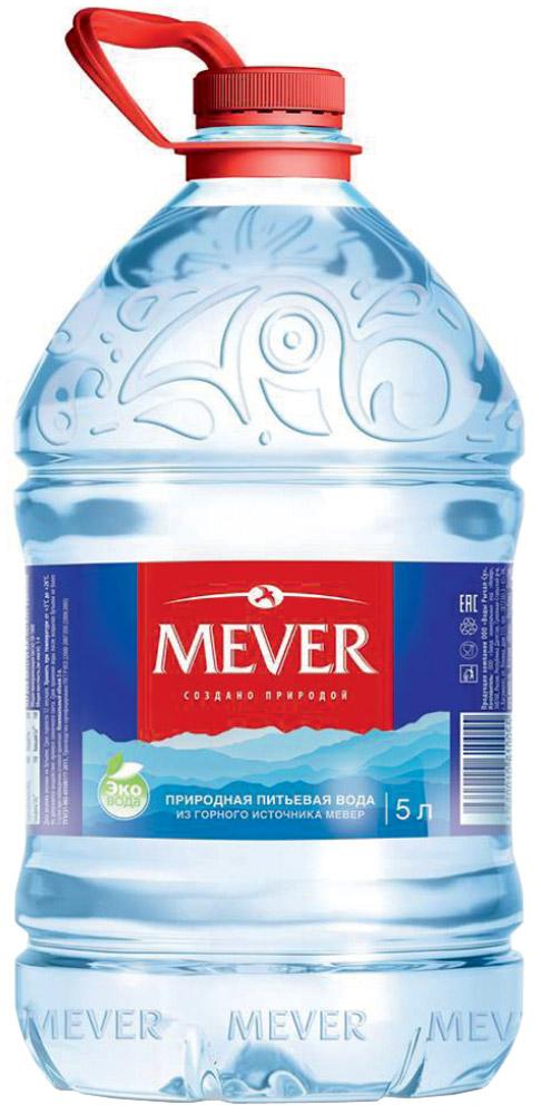 Мевер вода негазированная, 5 л acqua natia вода минеральная 0 5 л