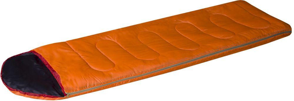 Спальный мешок-одеяло Prival Camp Bag, цвет: оранжевый, черный, правосторонняя молния