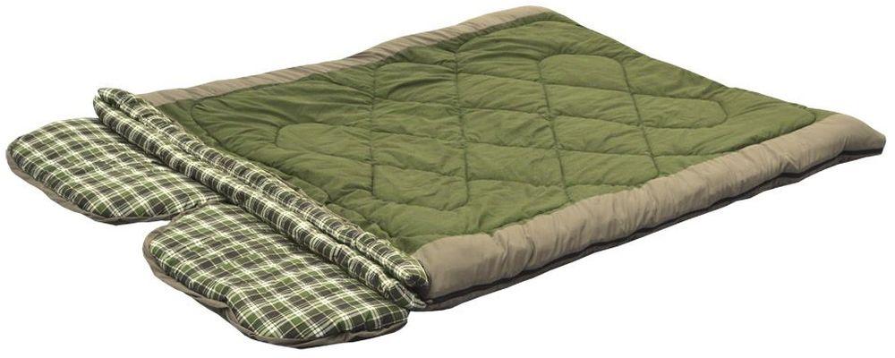 Спальный мешок-одеяло Prival Double-Lux, двусторонняя молния0064349Prival представляет новинку - уникальную модель, спальный мешок-трансформер Double-Lux. Этот универсальный, комфортный спальный мешок разрабатывался для любителей активного отдыха: на природе с семьей, на охоте или рыбалке, на даче. Модель представляет собой очень большое одеяло с двумя подголовниками, рассчитанное на двоих человек. Благодаря продуманной конструкции и специальной фурнитуре этот спальный мешок можно трансформировать в несколько вариантов:- два отдельных спальника: один с подголовником, один спальный мешок-одеяло;- два отдельных спальника-одеяла;- один спальный мешок на увеличенном, двойном слое утеплителя.Так как спальный мешок разрабатывался в первую очередь как семейный, большое внимание было уделено качеству тканей - внутренняя ткань спального мешка фланель 100% хлопок, экологичный и натуральный материал; внешняя - дышащая ткань Дюспа. В качестве утеплителя используется силиконизированное нетканое полотно ФАЙБЕР экологически чистый наполнитель, обладающий способностью долгое время сохранять форму, не деформироваться в процессе эксплуатации. Спальный мешок упаковывается в компресионный чехол. Верхняя предельная температура, °С :+10Верхняя температура комфорта, °С:+5Нижняя температура комфорта, °С:-5Нижняя экстримальная температура, °С :-15Характеристики:Тип спального мешка: Одеяло с подголовникомМатериал внешней ткани: Poly DewspaМатериал внутренней ткани: Фланель 100% хлопокНаполнитель: файберпласт (силиконизированное полотно)Длина: 190 + 30 смШирина: 160 смВес: 4,8 кгУпаковка: Компресссионный мешокРазмеры в свернутом виде (ДхШхВ): 55 х 40 см.Особенности:- Спальный мешок для двоих- Возможность трансформации в два отдельных или один спальный мешок повышенной комфортности- Защита от заедания молнии- Утепляющая планка молнии- Петли для сушки- Отстегивающиеся подголовники.