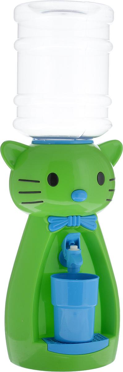 Мини-кулер для воды и сока HITT Мультик. Китти, цвет: зеленый, голубой, 2 лН25200_зеленый, голубойДетский мини-кулер HITT Мультик. Китти выполнен из экологически чистого пластика. Изделие не греет и не охлаждает воду, поэтому вы можете не беспокоиться, что ребенок обожжется или простудит горло. Соки, компоты, отвары трав в этом кулере будут для малыша более привлекательны, чем лимонад и другие вредные для организма напитки.Кроха с удовольствием будет наливать напиток из кулера в небольшой стаканчик совсем как взрослый. Ребенок станет потреблять больше жидкости. Вам не придется уговаривать его выпить молоко или компот.Изделие легкое и компактное, поэтому его можно взять с собой на дачу или на пикник. Яркий дизайн, сочные цвета и веселый персонаж сделают такой кулер украшением стола на детском празднике.Стакан входит в комплект.Высота мини-кулера (с учетом бутылки): 49 см. Размер стаканчика: 6,5 х 5 х 8,5 см. Высота бутылки: 18 см.