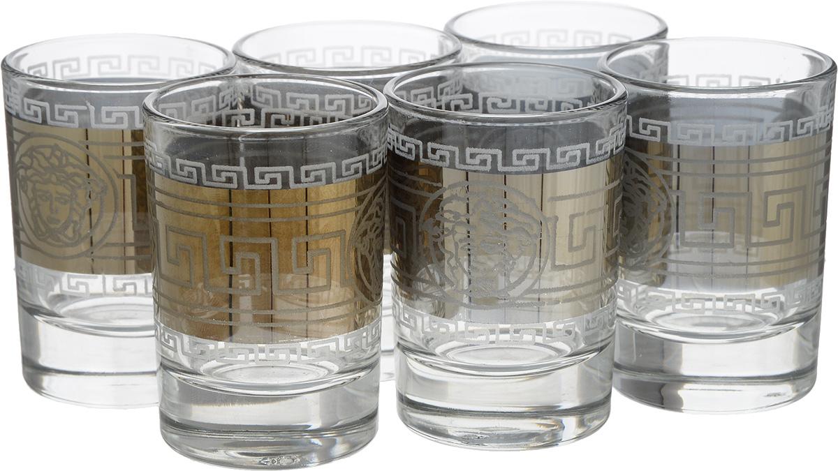 Набор стопок Мусатов Йети, 60 мл, 6 шт. 1022/411022/41Набор Мусатов Йети состоит из 6 стопок с толстым дном, изготовленных из высококачественного натрий-кальций-силикатного стекла. Изделия оформлены красивым зеркальным покрытием и широкой окантовкой с оригинальным узором. Такой набор прекрасно дополнит праздничный стол и станет желанным подарком в любом доме. Разрешается мыть в посудомоечной машине. Диаметр стопки (по верхнему краю): 4,7 см. Высота стакана: 6,8 см.