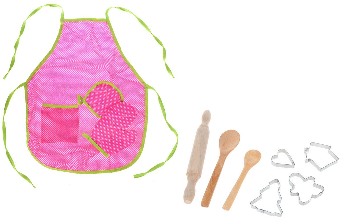 ABtoys Игровой набор Повар цвет розовый 10 предметов кухонный набор сима ленд шеф повар хрюша 3505364