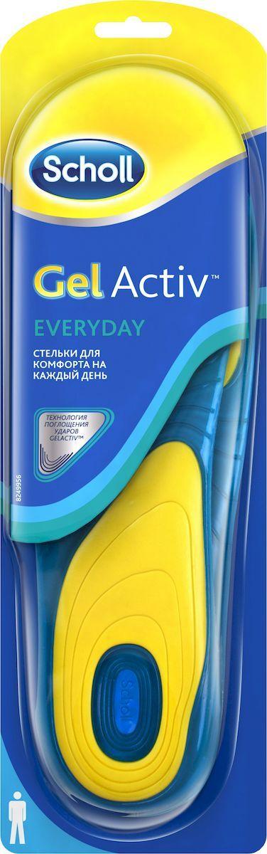 Scholl GelActiv Everyday Стельки для комфорта на каждый день для мужчин. Размер 40/46 стельки scholl купить в спб цена