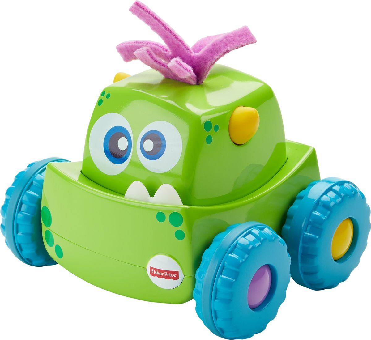 Fisher-Price Развивающая игрушка Инерционный монстрик цвет зеленый fisher price развивающая игрушка пианино ученого щенка