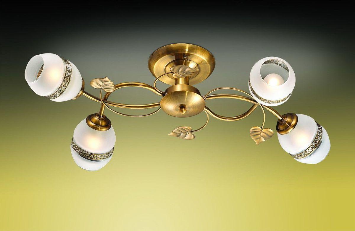 Люстра потолочная Odeon Light Lima, 4 х E27, 60W. 2458/42458/4