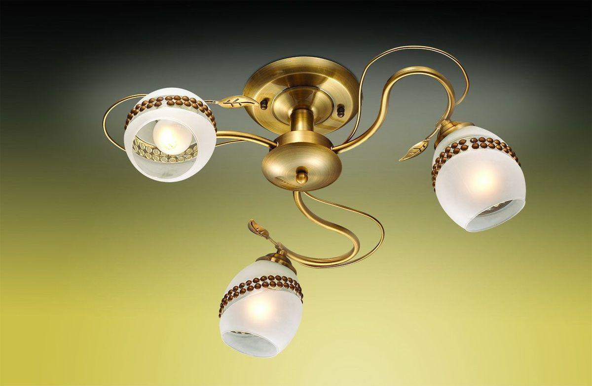 Люстра потолочная Odeon Light Kika, 3 х E27, 60W. 2459/32459/3