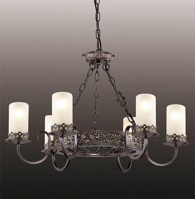 Люстра подвесная Odeon Light Mela, 6 х E14, 60W. 2690/62690/6