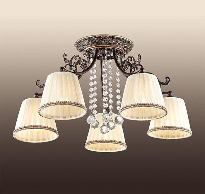 Люстра потолочная Odeon Light  Veado , 5 х E14, 60W. 2696/5C -  Светильники