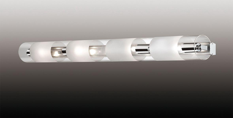 Светильник настенный Odeon Light Lemo, 4 х E14, 40W. 2743/4W светильник настенный odeon light 2743 4w odl15 787 e14 4 40w 220v lemo хром стекло