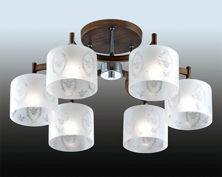 Люстра потолочная Odeon Light Runita, 6 х E27, 60W. 2759/6C2759/6C