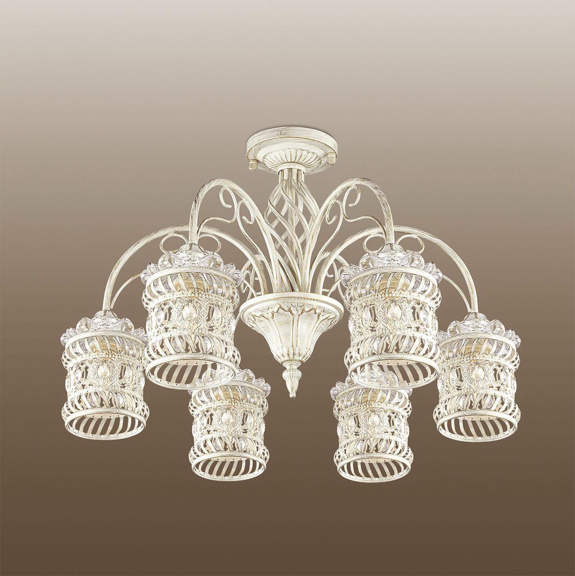 Люстра потолочная Odeon Light Zafran, 6 х E14, 40W. 2837/6C2837/6C