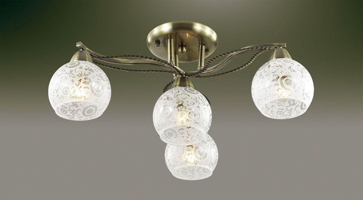 Люстра потолочная Odeon Light Girona, 4 х E14, 60W. 2942/4C2942/4C